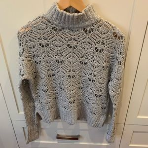 AE Knitted Mock Neck Sweater